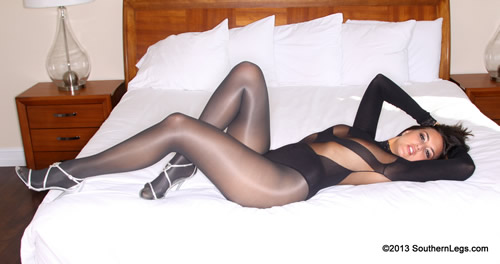 Elena in JC Penney Tights