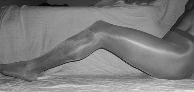 Naked in Pantyhose