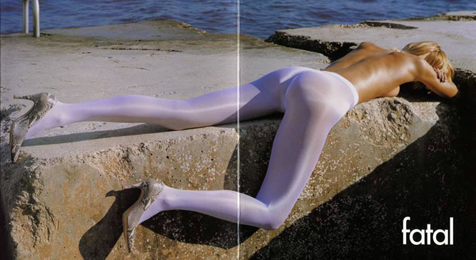 Magazine Ad for Wolford Fatal Neon pantyhose