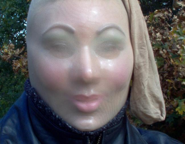 Pantyhose over face