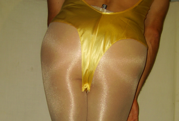 Satin Teddy and Wolford Pantyhose