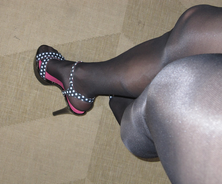 Pantyhose and Polka Dot Heels