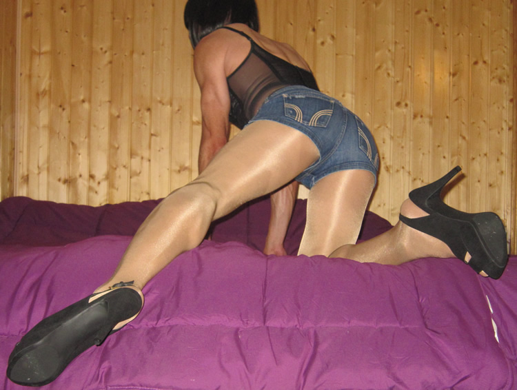Daisy Dukes with Omero pantyhose