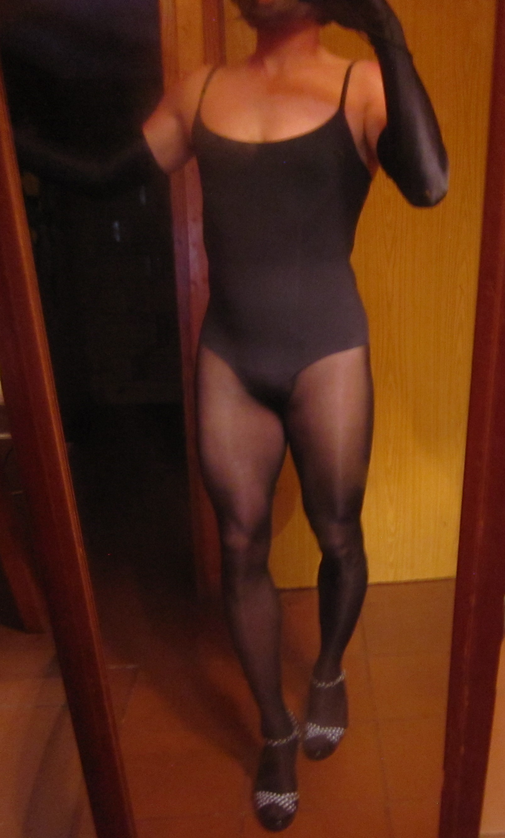 Item m6 bodysuit with Wolford Neon pantyhose