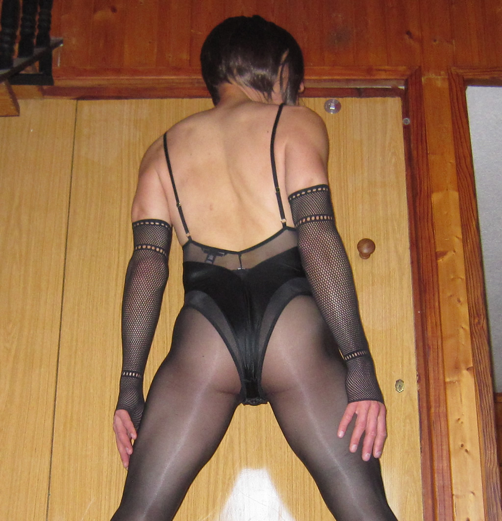 Sheery in teddy and tights